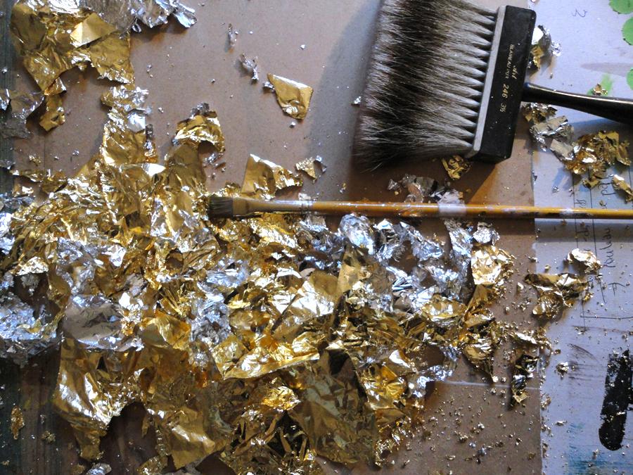 feuille de cuivre, dorure à la feuille d'or