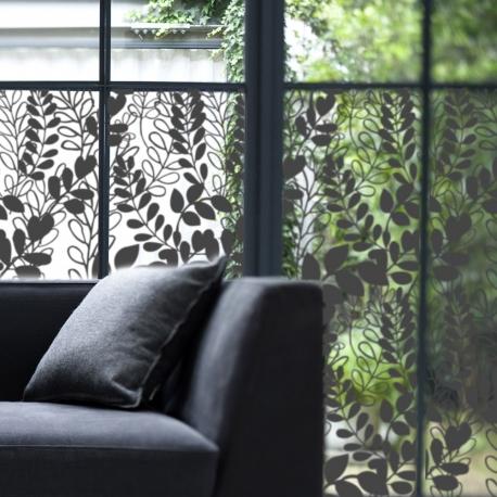 Film décoratif pour vitres. Motif végétal, design Sophie Briand-Collet