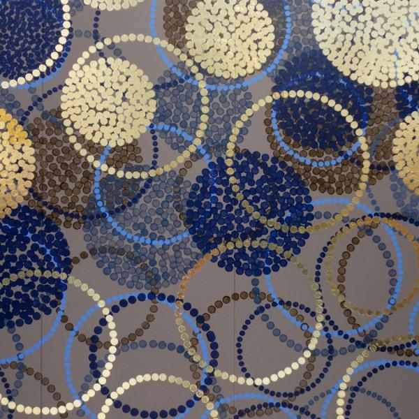 création murale contemporaine, panneau mural décoratif, panneau de décoration murale, décor personnalisé, papier peint personnalisé, design Sophie Briand. Pièce unique.