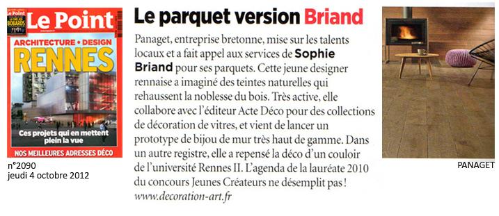 """Article publié dans le magazine Le Point. Dossier spécial """"Rennes, architecture & design""""."""