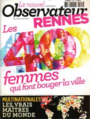 Le Nouvel Observateur. Rennes, les 40 femmes sui font bouger la ville. «Sophie Briand-Collet, habillage maison» (mars 2013)