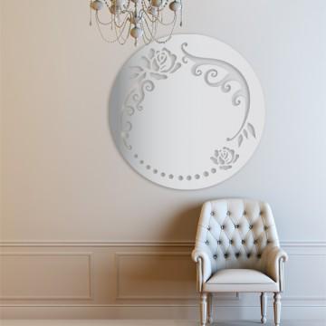 Graphisme pour miroir ajouré, design Sophie Briand-Collet