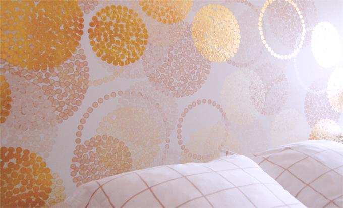 Tête de lit personnalisée. Pièce unique. Design et réalisation : Sophie Briand-Collet