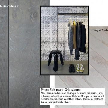 Conception des photos d'ambiances des produits (parquets et bois mural Panaget)