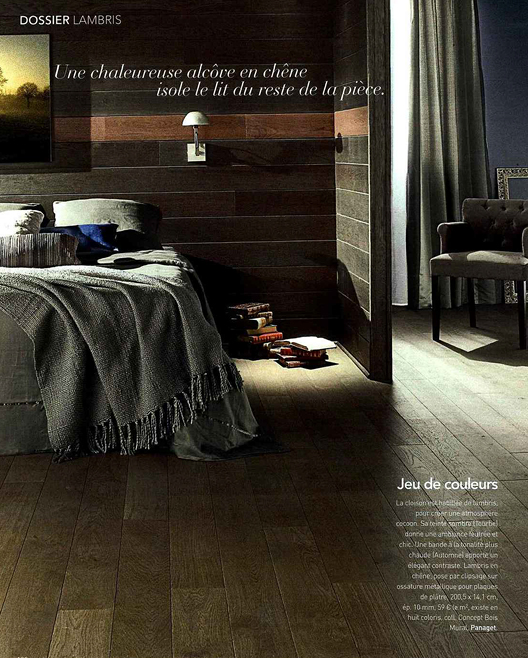 le bois mural tourbe la une dans art d coration mars 2016 sophie briand collet designer. Black Bedroom Furniture Sets. Home Design Ideas