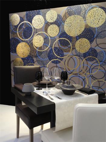 Panneaux de décoration murale pour un restaurant, design Sophie Briand-Collet