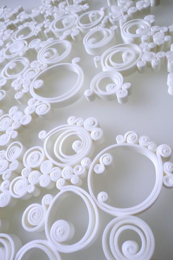 Volute, la matière métamorphosée. Concept et design Sophie Briand-Collet.