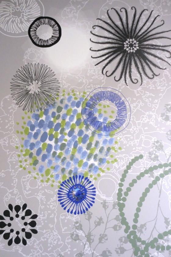 Création murale sur mesure, tapisserie personnalisée, art mural très grand format. Design mural de Sophie Briand