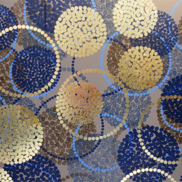décoration ornementale, décoration murale très grand format, panneaux décoratifs peints, décor contemporain, design Sophie Briand