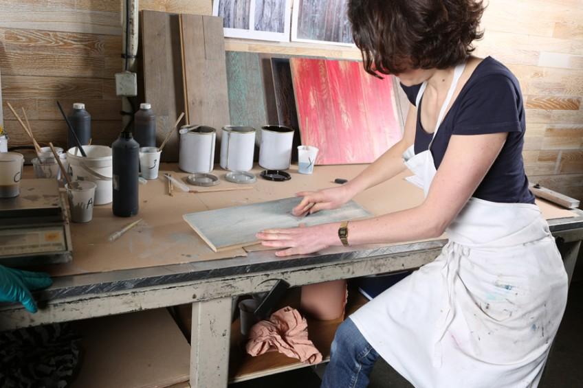 Pour Panaget, conception des collections et création de parquets
