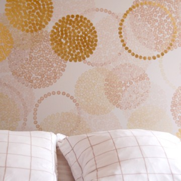 Design mural : tête de lit sur mesure «Champagne»