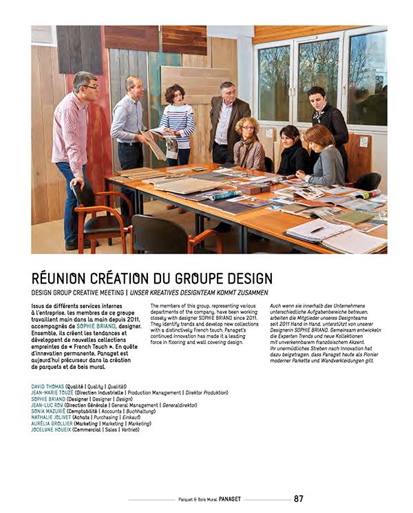 Réunion création du groupe design.