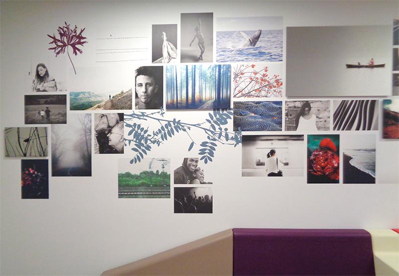 Composition murale créée pour l'Université Rennes 2.