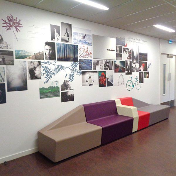 Design mural pour l'Université Rennes 2.
